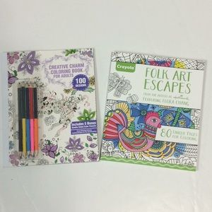Lot of 2 New Adult Coloring Books